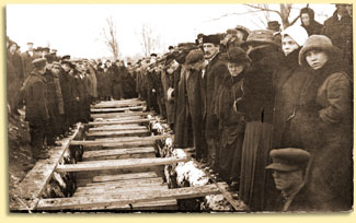 graveside ceremonies for the victims of Italian Hall